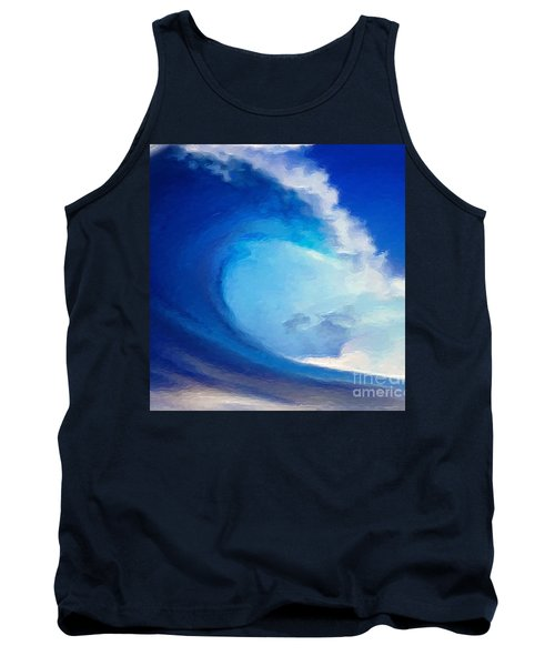 Tank Top featuring the digital art Fluid by Anthony Fishburne