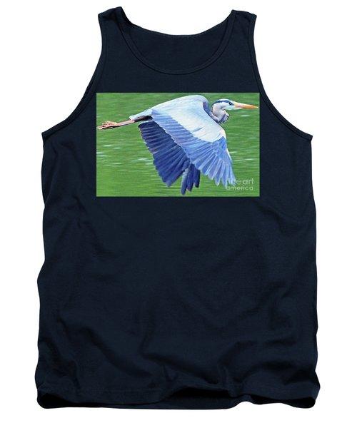 Flying Great Blue Heron Tank Top