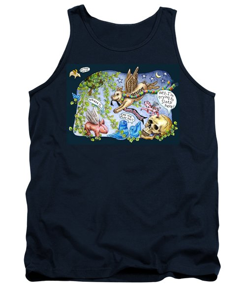 Flying Pig Party Tank Top