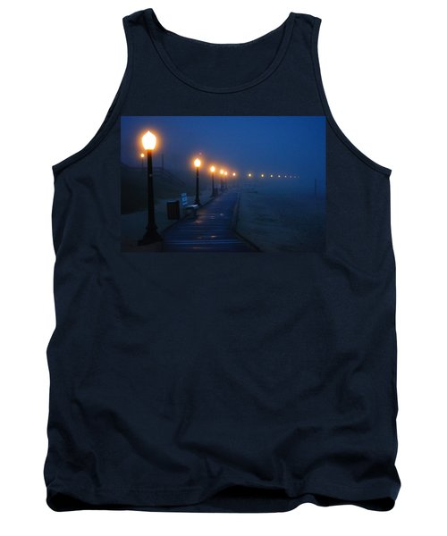 Foggy Boardwalk Blues Tank Top by Bill Pevlor