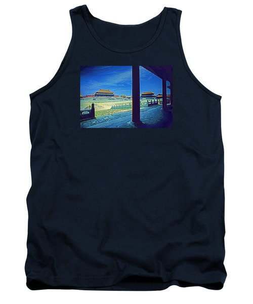 Tank Top featuring the photograph Forbidden City Porch by Dennis Cox ChinaStock