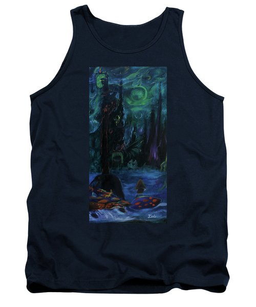Tank Top featuring the painting Forbidden Forest by Christophe Ennis