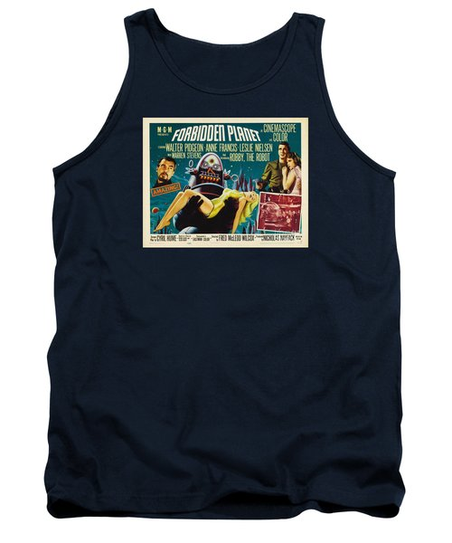 Forbidden Planet In Cinemascope Retro Classic Movie Poster Tank Top