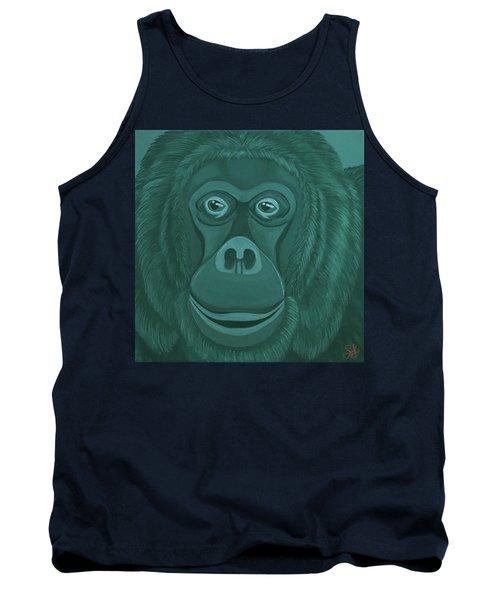 Forest Green Orangutan Tank Top