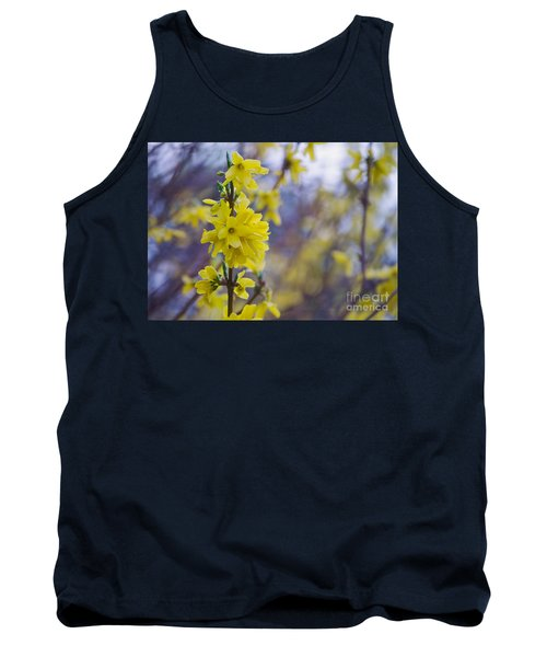 Tank Top featuring the photograph Forsythia by Rima Biswas