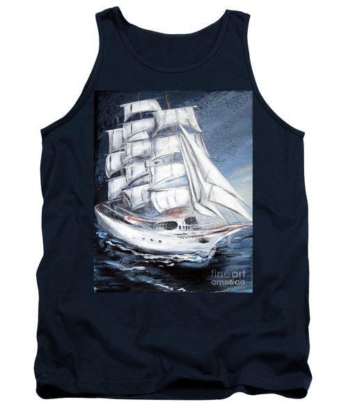 Fortunate. Sailing Ship Tank Top