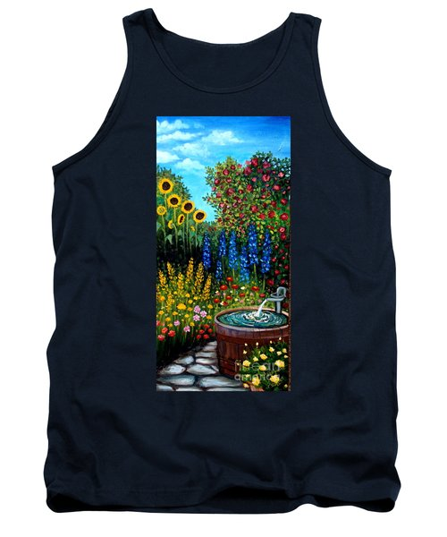 Fountain Of Flowers Tank Top