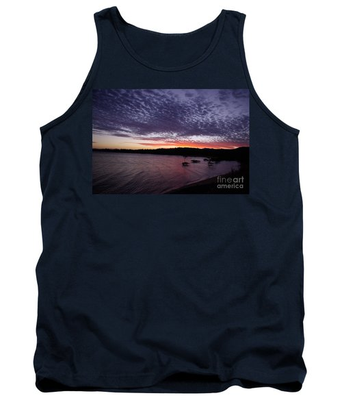 Four Elements Sunset Sequence 7 Coconuts Qld  Tank Top by Kerryn Madsen - Pietsch