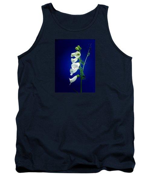 Foxgloves On  Blue Tank Top