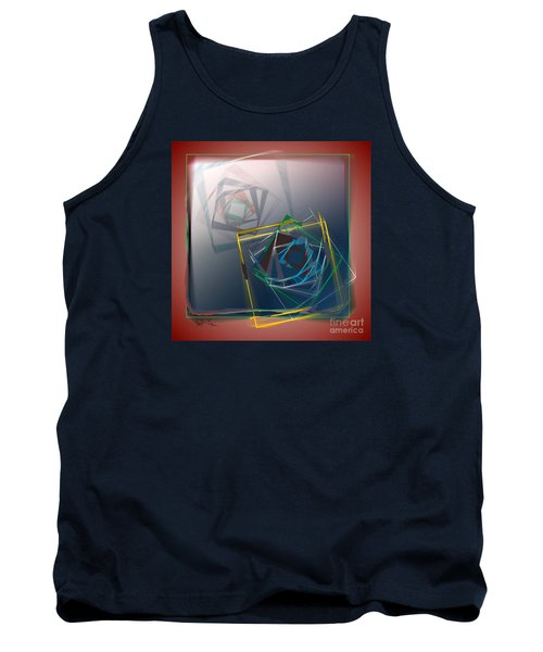 Tank Top featuring the digital art Fragments Of Movement by Leo Symon