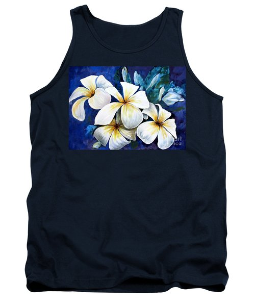 Tank Top featuring the painting Frangipani by Ryn Shell