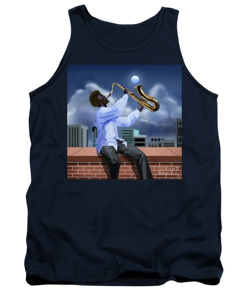 Free Jazz Moon Tank Top