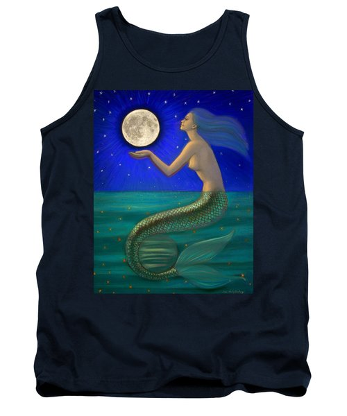 Full Moon Mermaid Tank Top by Sue Halstenberg