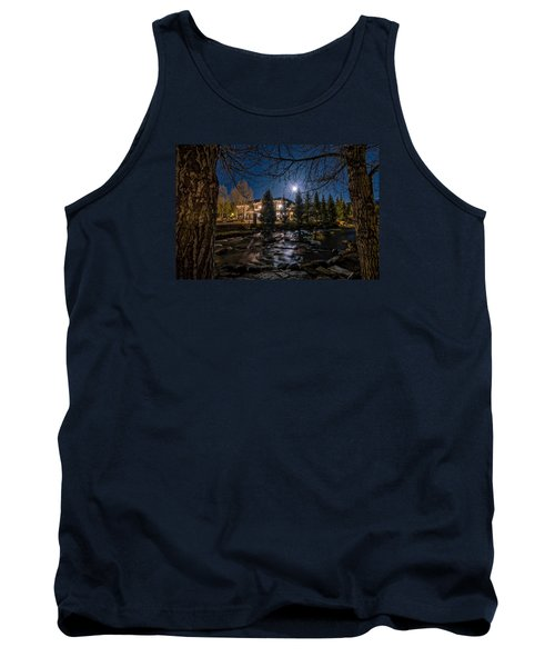 Full Moon Over Breckenridge Tank Top by Michael J Bauer