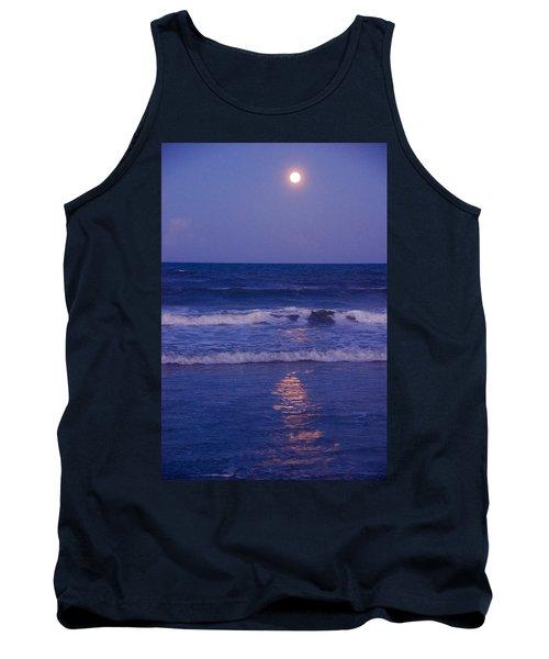 Full Moon Over The Ocean Tank Top