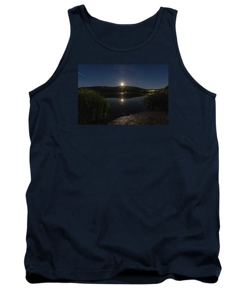Tank Top featuring the photograph Full Moon Retreat Meadows by Tom Singleton