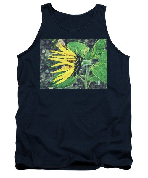 Funny Sunflower Tank Top by Karen Stahlros