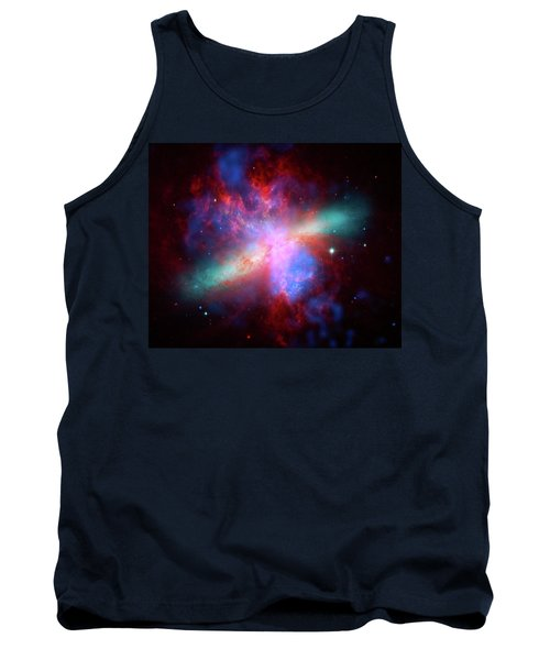 Tank Top featuring the photograph Galaxy M82 by Marco Oliveira