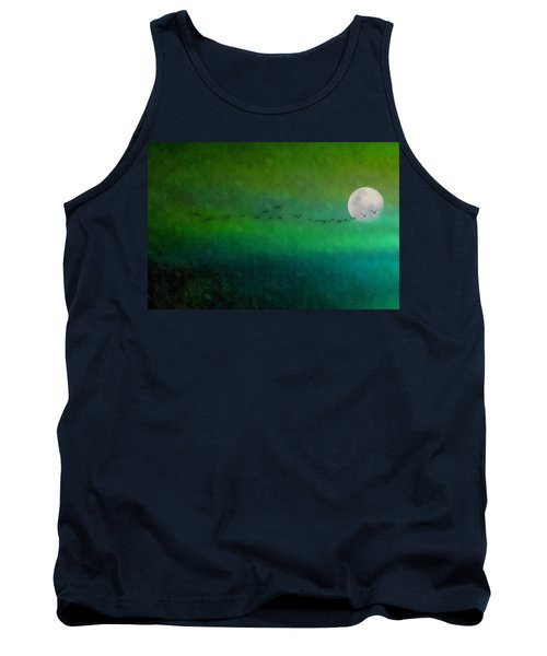 Tank Top featuring the photograph Geese In Flight  by Andrea Kollo