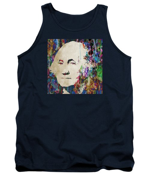 George Washington President Art Tank Top