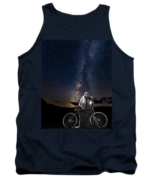 Ghost Rider Under The Milky Way. Tank Top