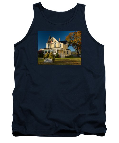 Tank Top featuring the photograph Gibson Woodbury House North Conway by Nancy De Flon