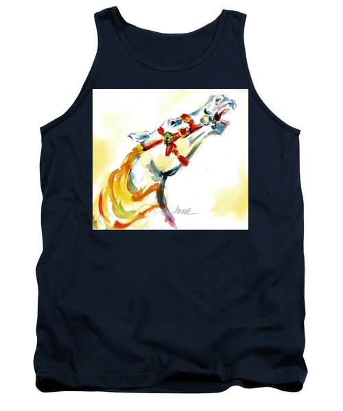 Giddy-up Carousel Horse Head Study Tank Top