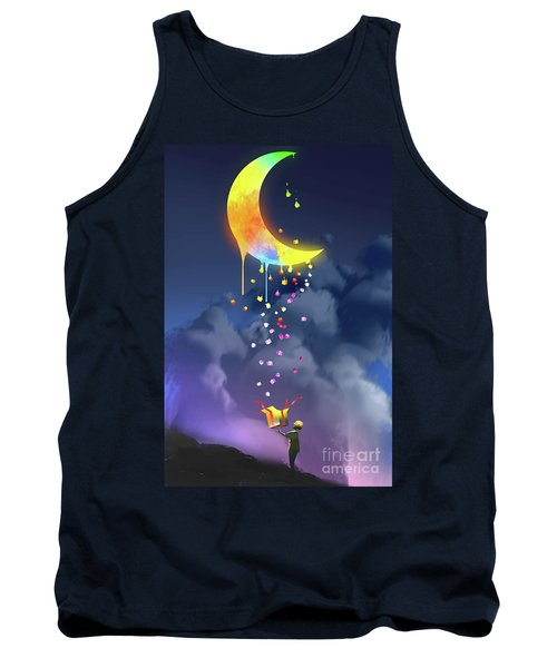 Tank Top featuring the painting Gifts From The Moon by Tithi Luadthong