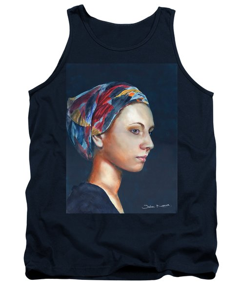 Girl With Headscarf Tank Top