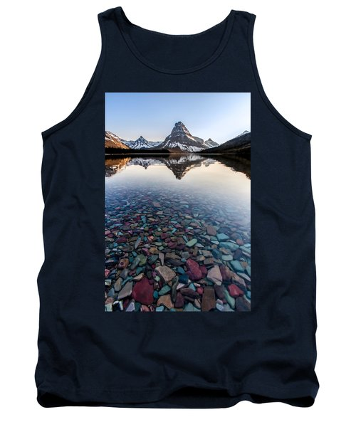 Tank Top featuring the photograph Glacier Skittles by Aaron Aldrich