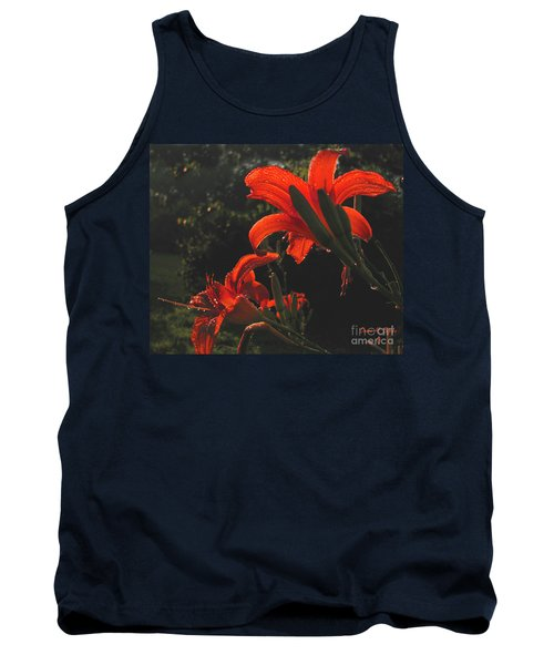Tank Top featuring the photograph Glowing Day Lilies by Donna Brown