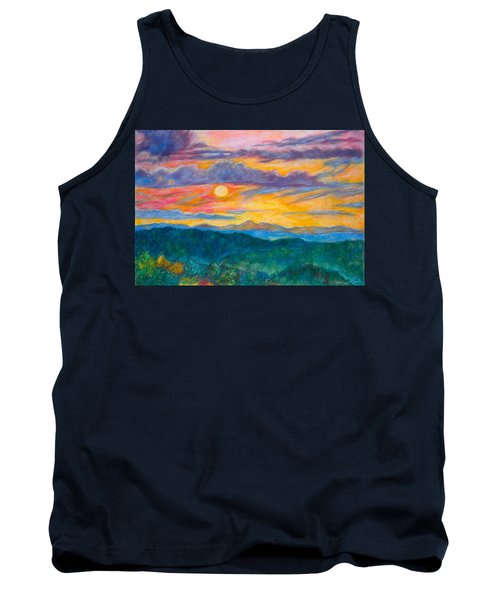 Golden Blue Ridge Sunset Tank Top