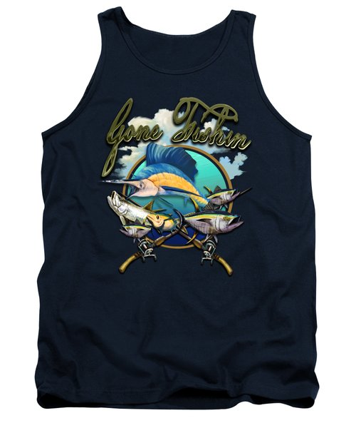 Gone Fishin Tank Top