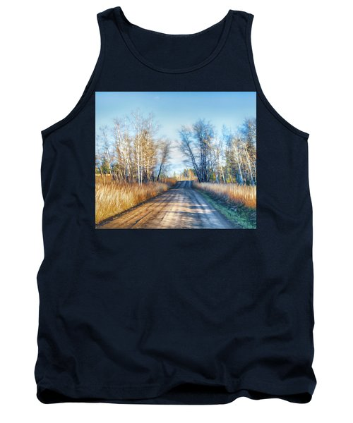 Tank Top featuring the photograph Goose Lake Road by Theresa Tahara