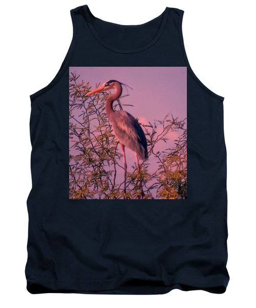 Great Blue Heron - Artistic 6 Tank Top