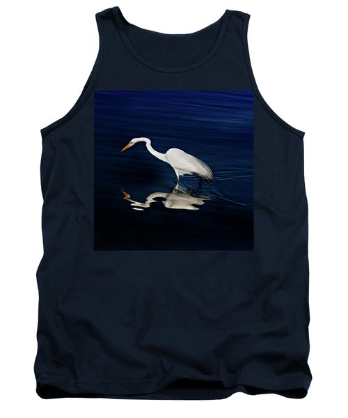 Great Egret-self Reflections Tank Top