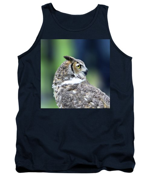 Great Horned Owl Profile Tank Top