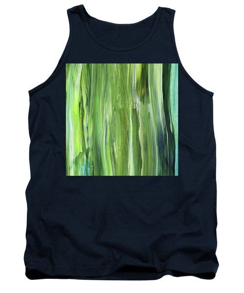 Green Blue Organic Abstract Art For Interior Decor Iv Tank Top