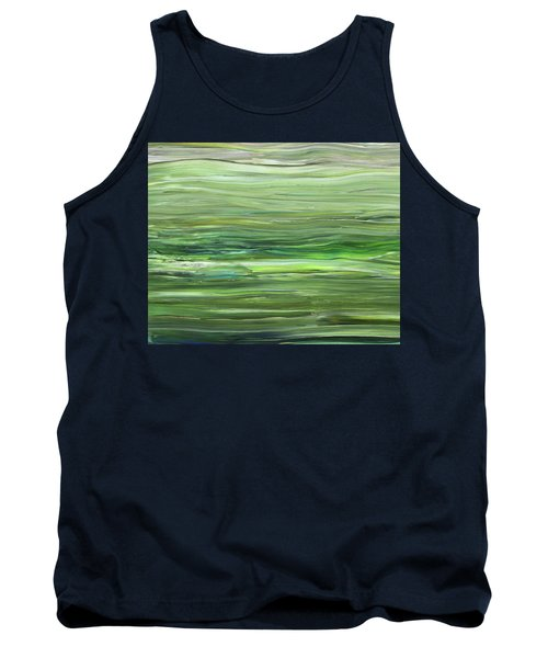Green Gray Organic Abstract Art For Interior Decor Vii Tank Top