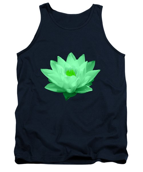 Green Lily Blossom Tank Top