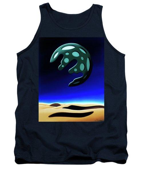 Green Moon Rising Tank Top