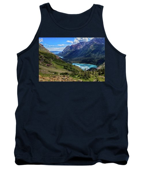 Grinell Hike In Glacier National Park Tank Top by Andres Leon