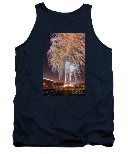 Guy Fawkes Night Fireworks Tank Top