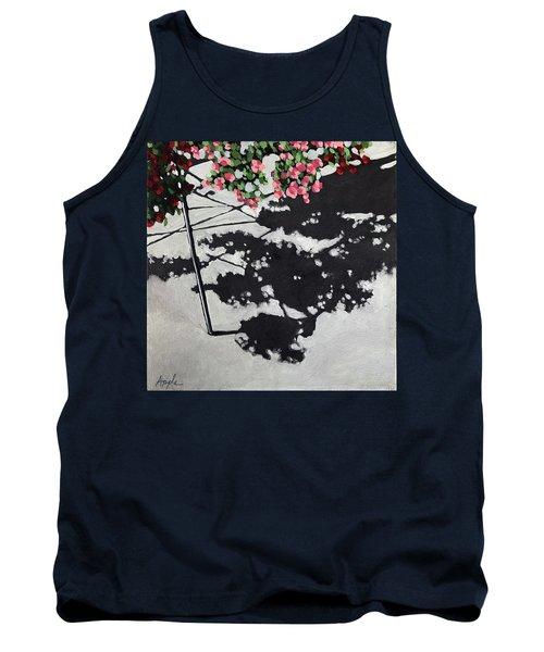 Hanging Shadows - Floral Tank Top