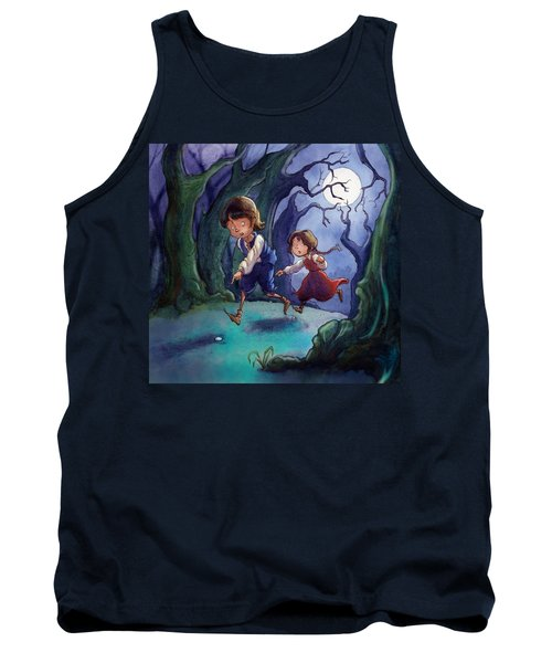 Hansel And Gretel Pebbles Tank Top by Andy Catling