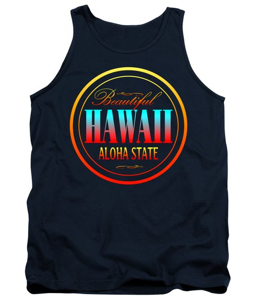 Hawaii Aloha State Design Tank Top