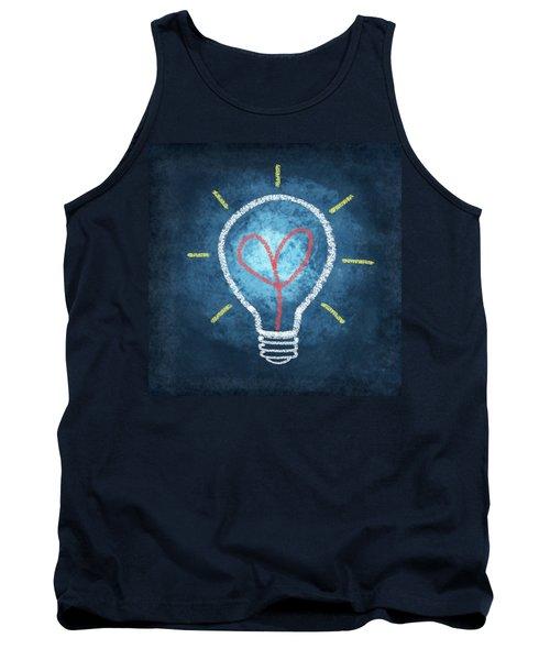 Heart In Light Bulb Tank Top