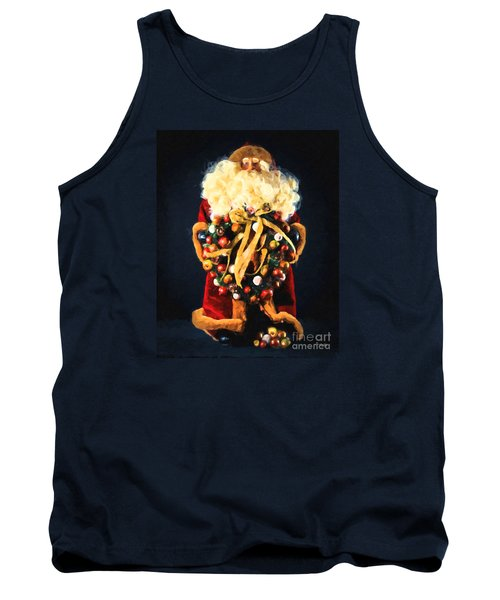 Tank Top featuring the painting Here Comes Santa by Chris Armytage