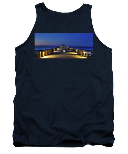 Tank Top featuring the photograph Here It Comes Now Folly Beach Pier Sunrise Art by Reid Callaway