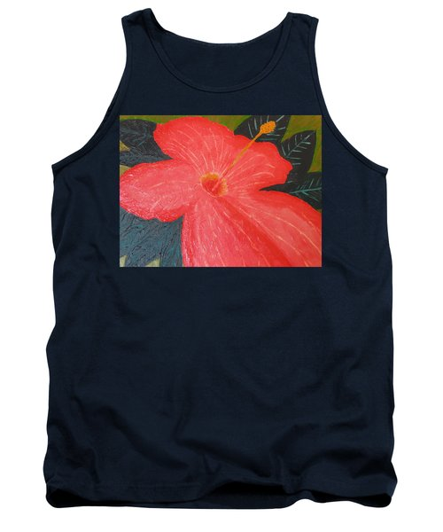 Hibiscus Tank Top by Barbara Yearty